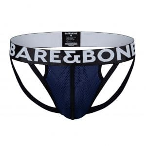 Mens Blue Mesh Jockstrap by Bare&Bone